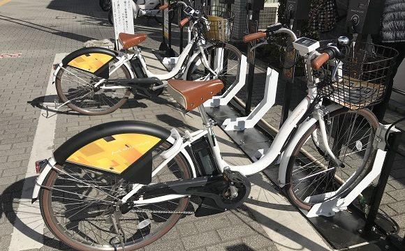 川越自転車シェアリングステーションの自転車の状況