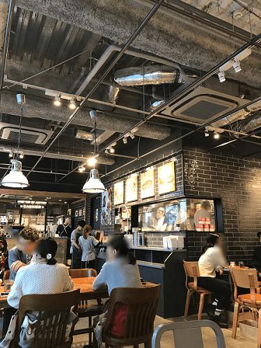 J.S.bargers cafe渋谷店のニューヨークを感じさせるおしゃれな店内