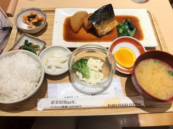 さち福やの煮鯖とやわらか大根煮の定食