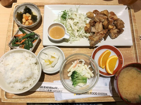 さち福やの鶏とエリンギの炙り焼定食