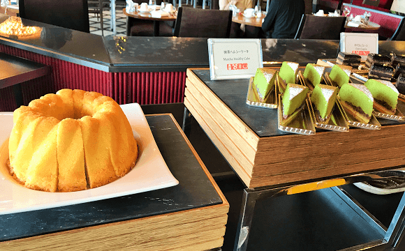 ブッフェメニュー(シフォンケーキ、抹茶ケーキ)