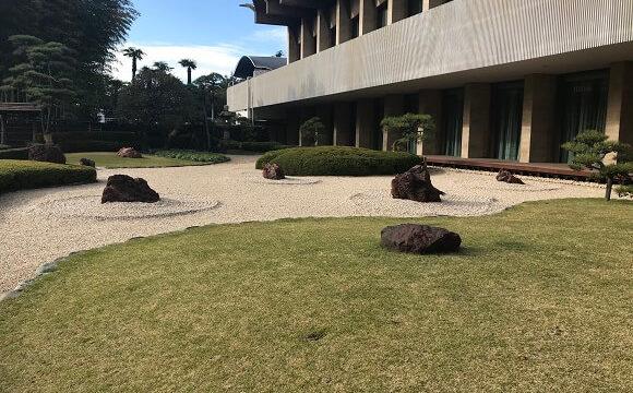 ホテルニューオータニの日本庭園(枯山水)