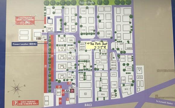 ジョンソンタウン内の店舗案内図