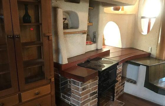 きのこの家の中にある等身大のキッチン
